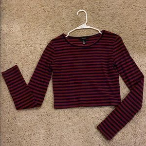 Long Sleeve forever 21 Crop Top
